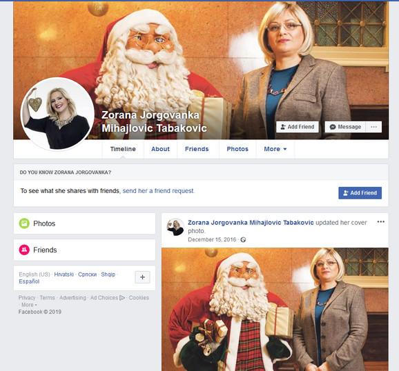 Zajednički lažni profil sa Jorgovankom Tabaković