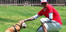 Beckham uczy psa grać w piłkę
