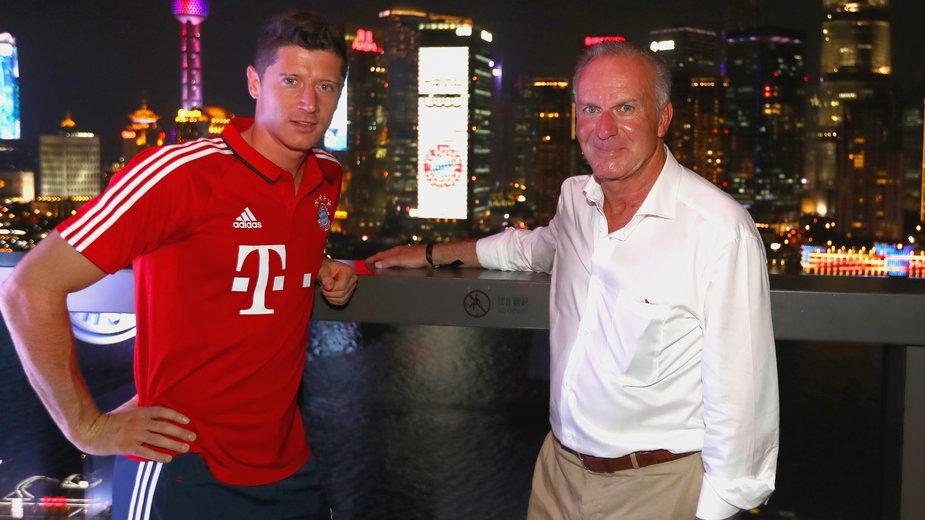 Robert Lewandowski i Karl-Heinz Rummenigge
