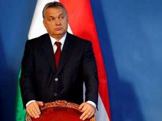 FILE PHOTO: Hungarian Prime Minister Orban attends a news conference after his meeting with Prime Mi