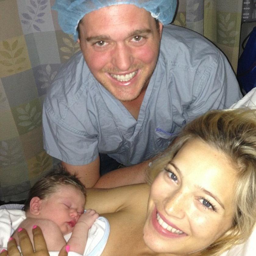 Michael Buble zdjęcie z porodówki