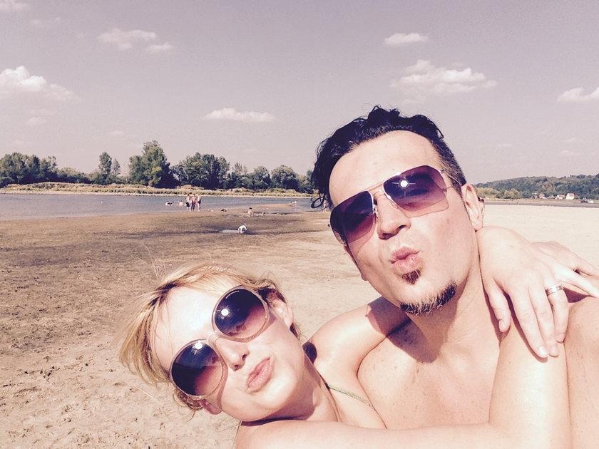 Marcin Wrona z żoną