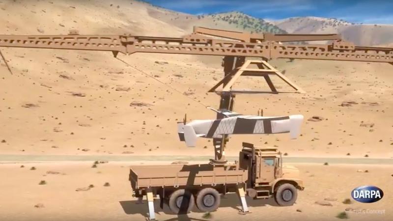 DARPA prezentuje system chwytania dronów