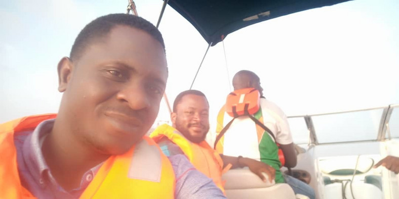 Aderemi Ojekunle and other passengers on board GBoat, Thursday, June 13, 2019 (Pulse/Aderemi OJekunle)
