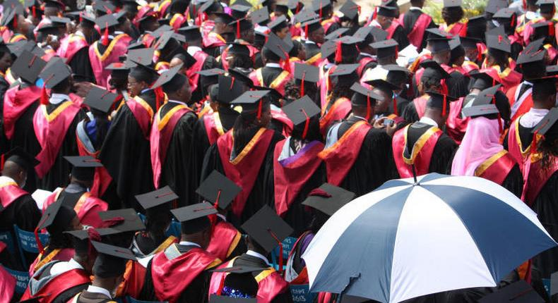 Students during a past graduation ceremony