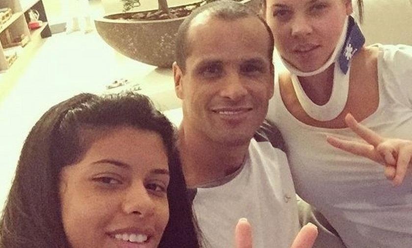 Dramat Rivaldo. Jego żona i córka miały wypadek. ZDJĘCIA