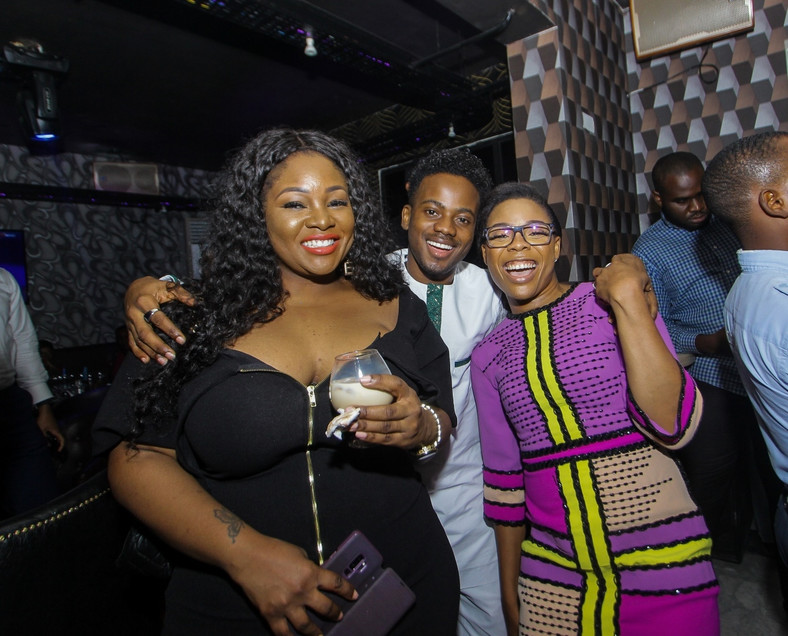 Korede Bello, Toolz and Kaffy at Burna Boy's birthday bash [BukiHQ]