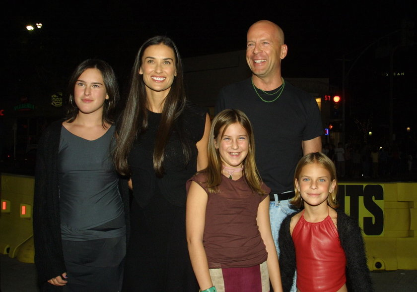 Demi Moore z byłym mężem i dziećmi