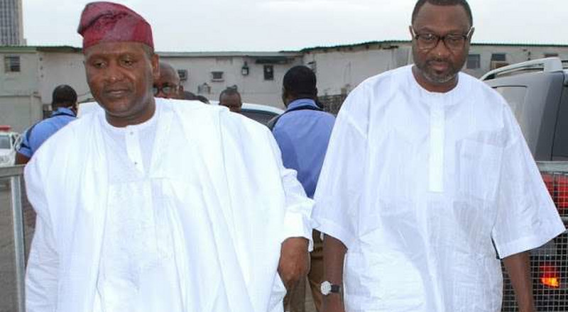 Nigerian billionaires Aliko Dangote and Femi Otedola promise Super Eagles $75,000 per goal during Semi-Final match against Algeria