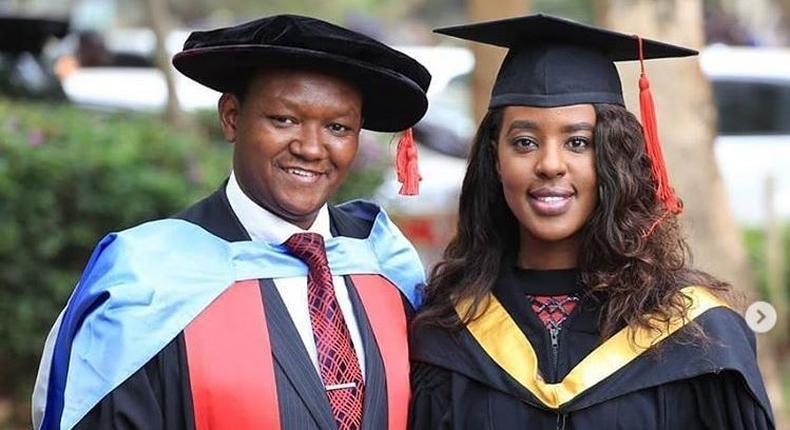 Alfred Mutua treats wife Lillian Ng'ang'a to lavish graduation party