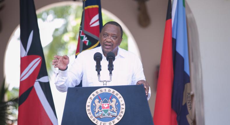 President Uhuru Kenyatta . (pscu)