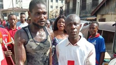 6 trapped, 2 rescued as 4-storey building collapses in Onitsha