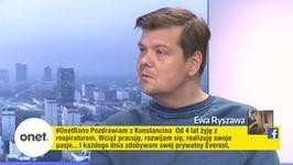 """Michał Figurski w Onet Rano: """"Swoje ego zostawiłem przy zmienianiu pampersa w szpitalu"""""""