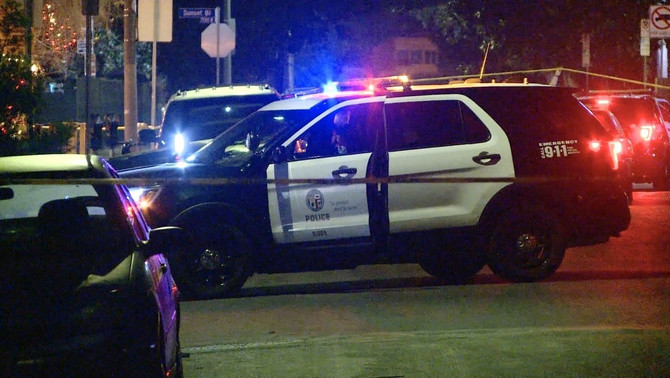 Mesto napada u Zapadnom Holivudu