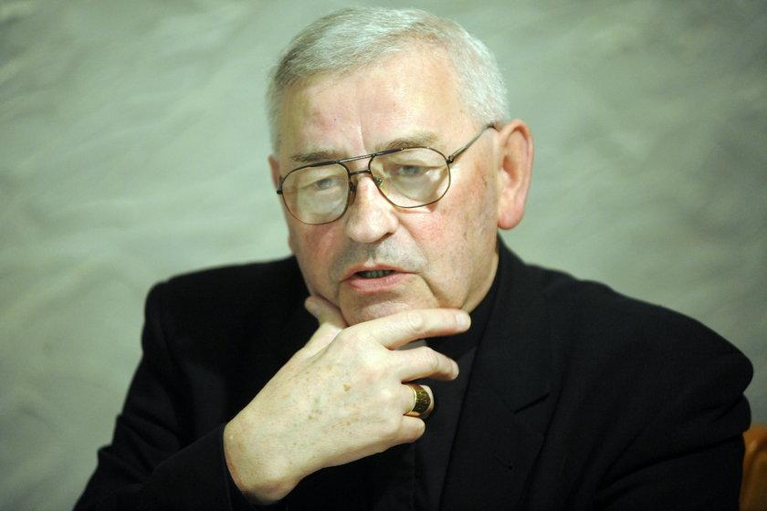 Biskup Tadeusz Pieronek u Tomasza Lisa