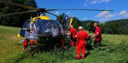Wypadek paralotniarza w Krynicy. Mężczyzna jest ciężko ranny