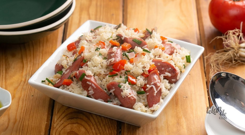 How to make chicken sausage rice