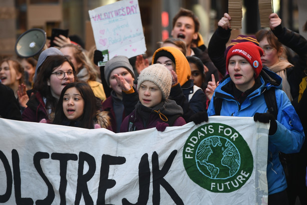 Greta Thunberg. Protest klimatyczny