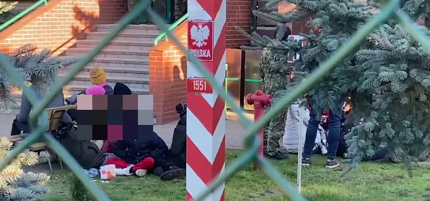 PILNE: Akcja Straży Granicznej wobec imigrantów. Były tam kobiety i dzieci. Słychać było krzyki