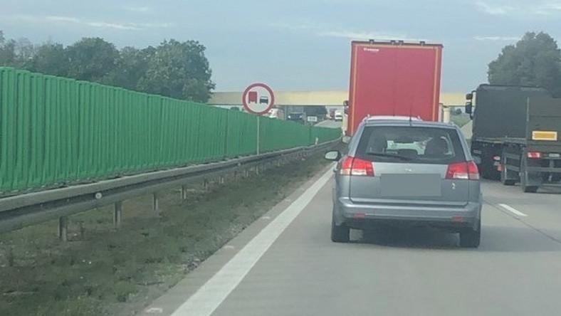 Zabronione manewry kierowców ciężarówek na A4
