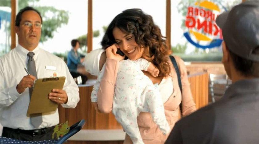 Salma Hayek hamburgery Burger King reklama