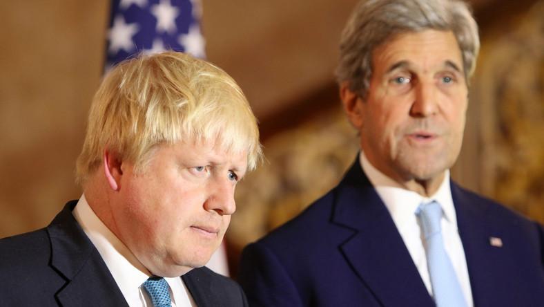Boris Johnson i John Kerry