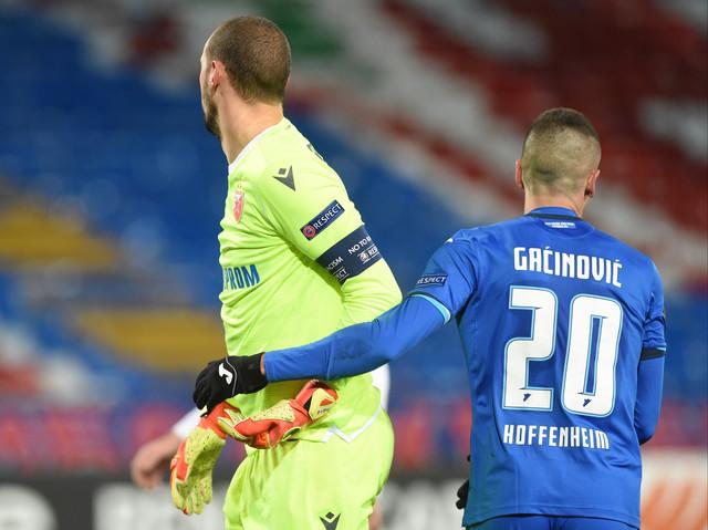 Borjan i Gaćinović na utakmici Crvena zvezda - Hofenhajm
