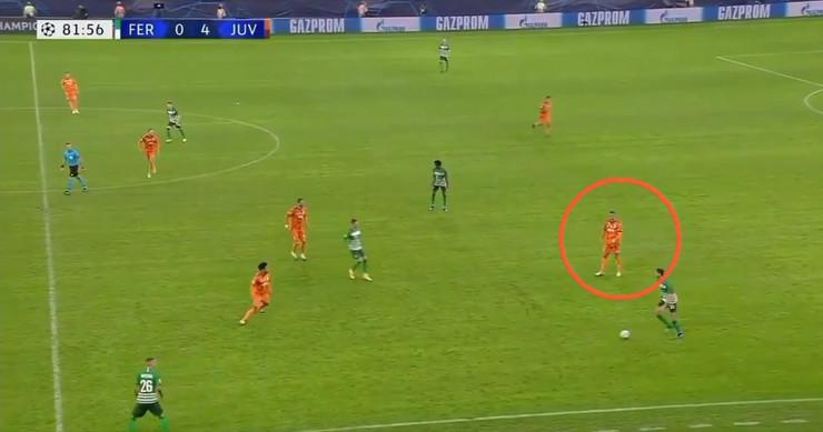 Kristijano Ronaldo na meču sa Ferencvarošem