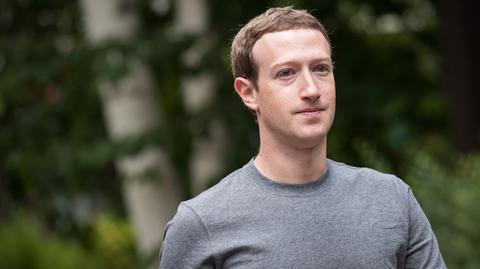 Na zdjęciu założyciel Facebooka Mark Zuckerberg