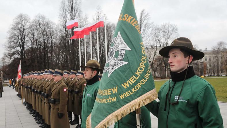 Uroczystość złożenia wieńców pod Grobem Nieznanego Żołnierza