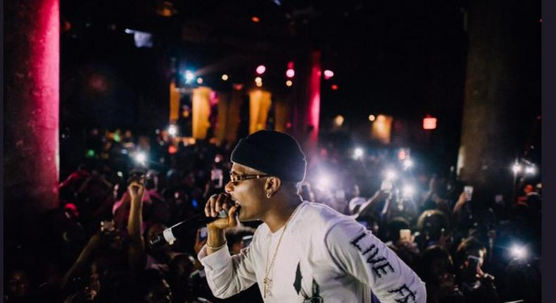 Wizkid performing at the SOBs for his Sounds from the Other Side album launch party in New York