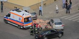 Kolejny wypadek na rogu Żeligowskiego i Zielonej