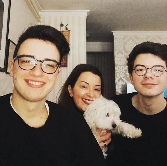 Dragana Katić sa sinovima