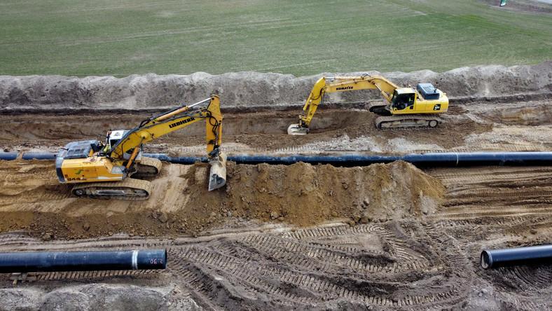 Budowa części lądowej gazociągu Baltic Pipe