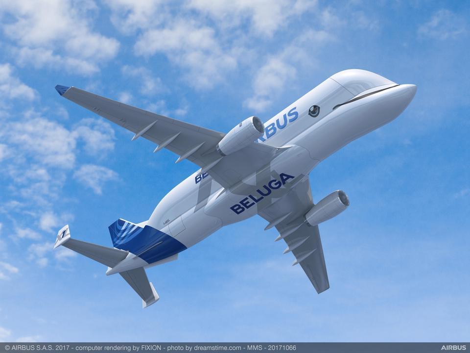 Program budowy nowej generacji supertransportowców Airbusa zainicjowano w 2014 roku. Ma powstać 5 samolotów BelugaXL.