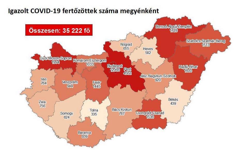Tovább nőtt a fertőzöttek száma /Fotó: koronavirus.gov.hu