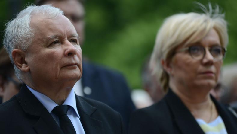 Jarosław Kaczyński i Julia Przyłębska
