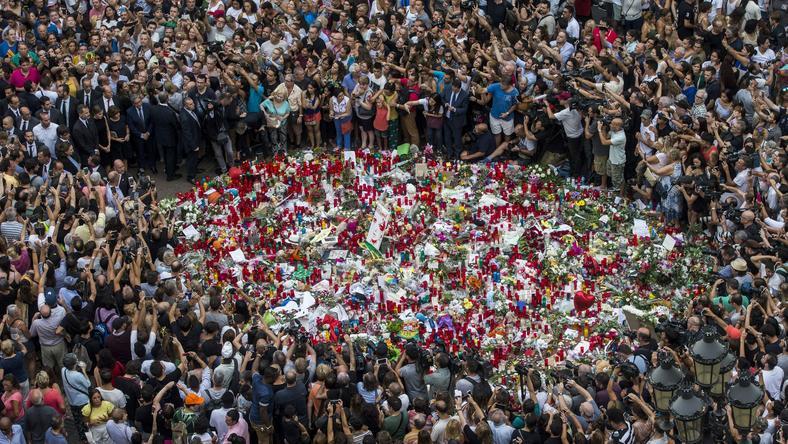 Miejsce czwartkowego zamachu na Las Ramblas