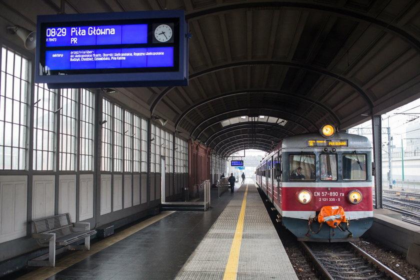 Będą utrudnienia na trasie kolejowej Poznań-Piła