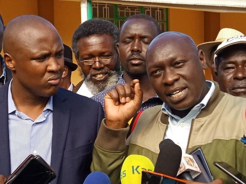 Rebel MPs Joshua Kutuny (Cherenganyi), Alfred Keter (Nandi Hills) and Silas Tiren (Moiben),