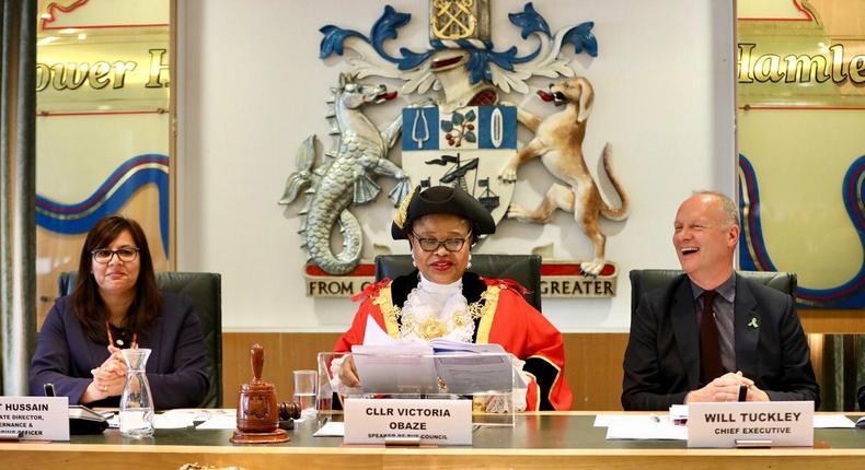 Mrs Victoria Obaze is the Civic Mayor of London Borough of Tower Hamlets, UK (Twitter/TowerHamletsNow)