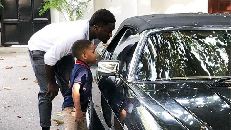 Sulley Muntari and his son