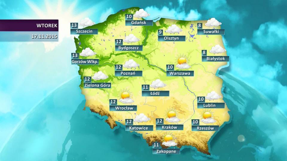 Prognoza pogody dla Polski - 17.11