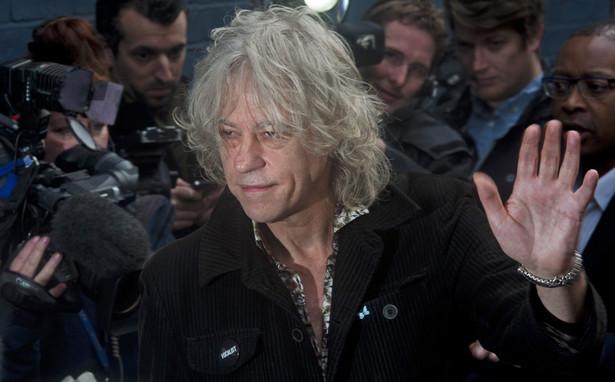Bob Geldof w drodze na nagranie