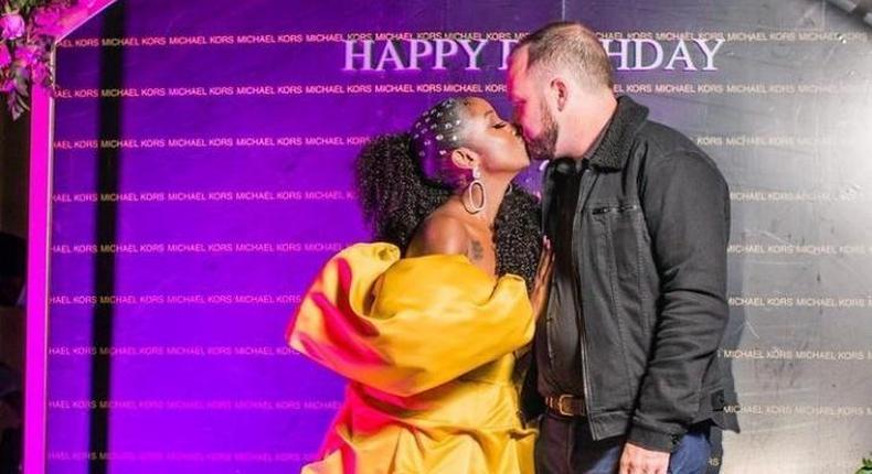Anita Nderu with her new Boyfriend