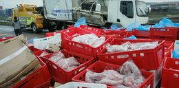 Obwodnica stanęła przez ciężarówkę z kurczakami. Gdańsk sparaliżowany przez 8 godzin