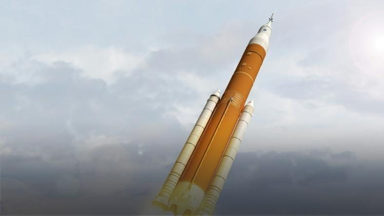 This NASA image from February 7, 2018, shows an artist concept image of the next generation of NASA's Space Launch System