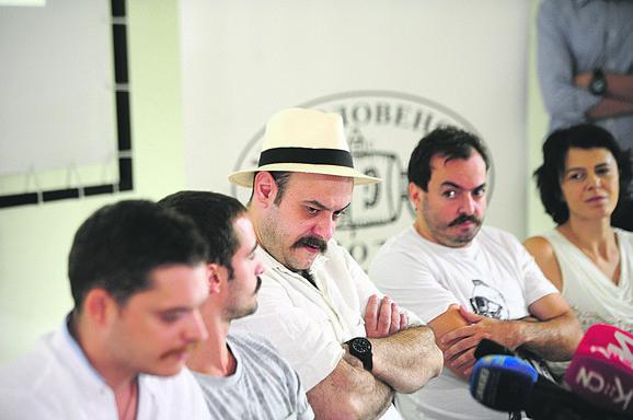 Ljubomir Bandović, Nenad Okanović, Nataša Drakulić i deo ekipe filma