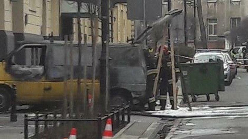Pożar samochodu pod MSZ