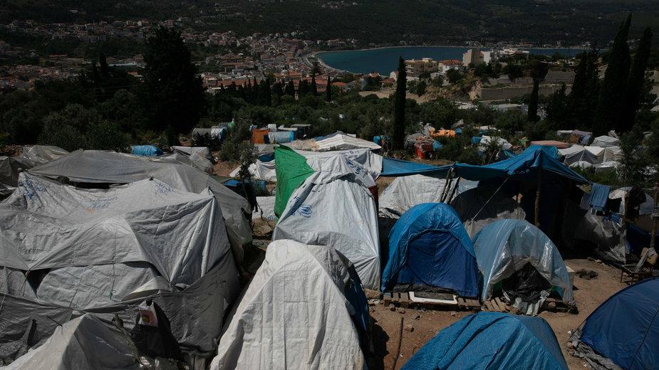 Obóz uchodźców na wyspie Samos (24.05.2019)